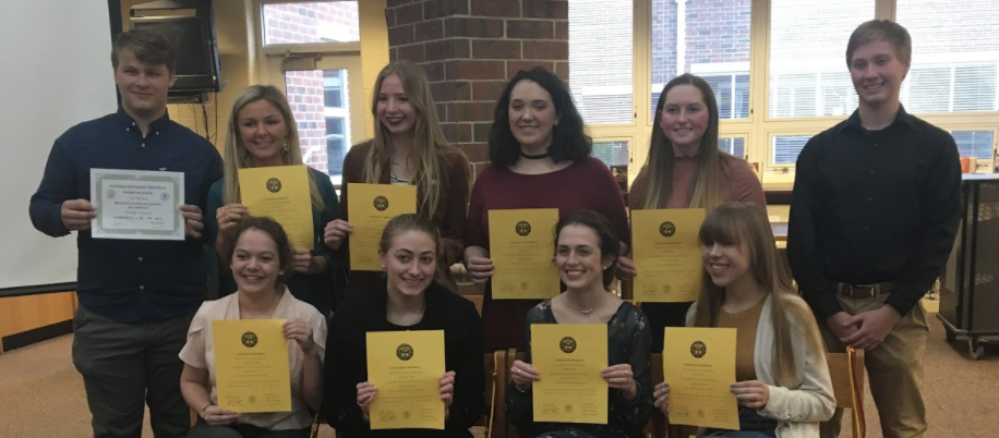 National Spanish Honor Society inductees